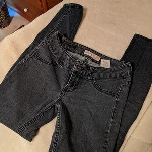 Paris Blue Stretch Low Waist, Skinny Jeans